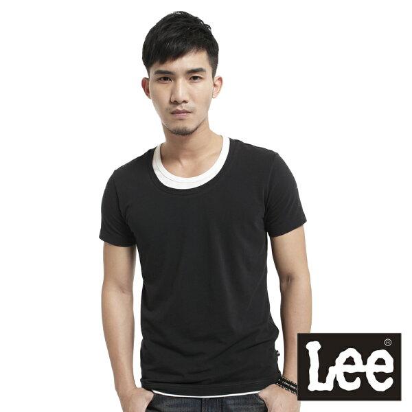 【 3折優惠↘ 】Lee  假兩件圓領短袖T恤