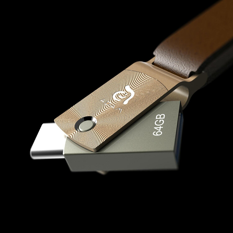【亞果元素】 ROMA USB Type-C 雙用隨身碟 64GB 金 0