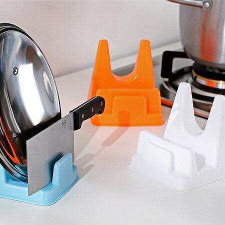 居家創意 多功能廚房收納架 接油槽設計 鍋蓋架 菜刀架 【N201632】