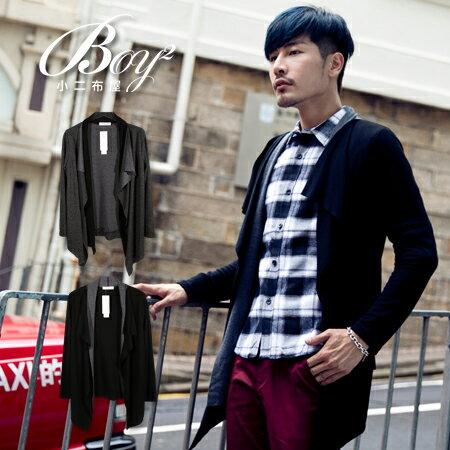 ☆BOY-2☆【NQ98039】韓版紳士假兩件針織外套 1
