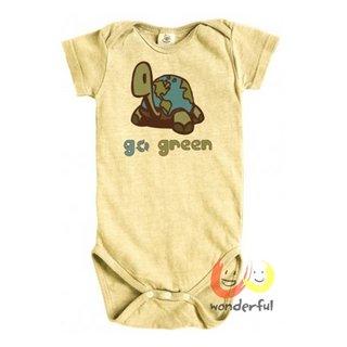 Earth Creations有機棉麻連身衣-黃海龜