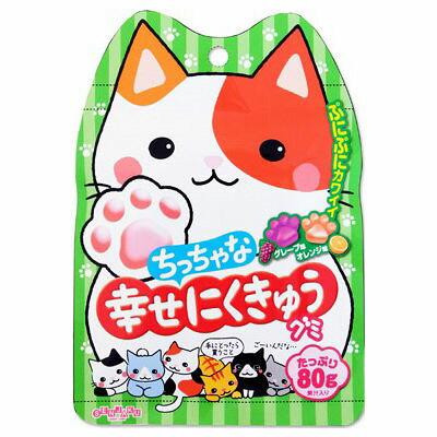 有樂町進口食品 日本進口 扇雀飴 幸福QQ軟糖(葡萄&柳橙) 80g 4901650228089 1
