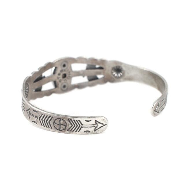 【海外訂購】【Indian Jewelry】印地安圖騰刻印綠松石古董手鐲(Vintage-077  S000008758) 3