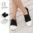 格子舖*【KH6870】校園風格經典 簡約時尚素面 貝殼頭平底帆布鞋 懶人鞋 小白鞋 2色 0
