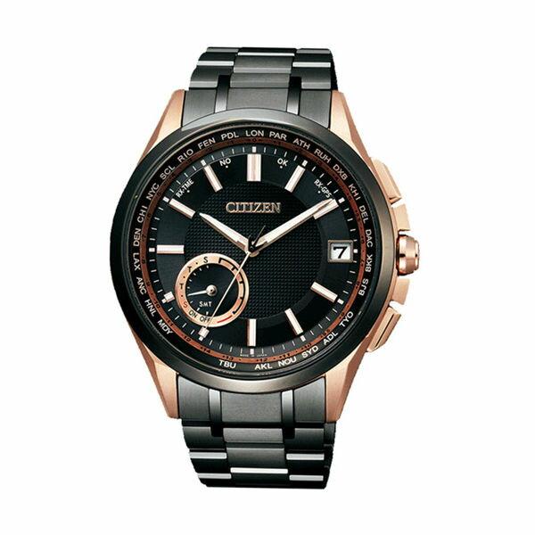 CITIZEN星辰CC3015-57L 黑金版鈦金屬GPS衛星對時腕錶/黑金43mm