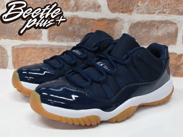 男生BEETLE NIKE AIR JORDAN XI 11 LOW NAVY 海軍藍 膠底 528895-405 9.5 1