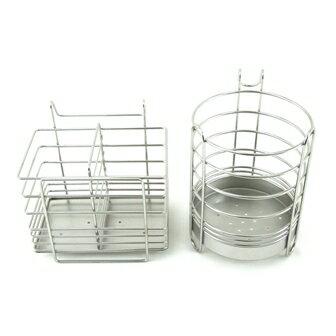 【珍昕】 皇家不鏽鋼筷籠系列~2款式(圓形.長方形)/ 餐具收納架