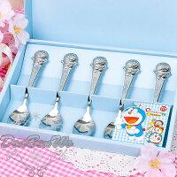 小叮噹週邊商品推薦日本製哆啦A夢小叮噹不鏽鋼湯匙5入組禮盒101517海渡