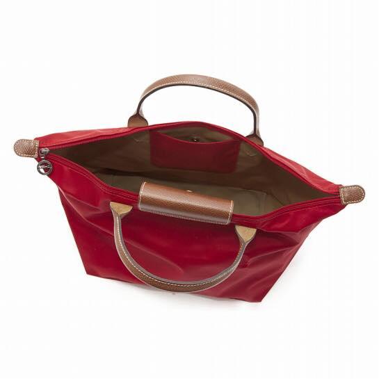 【LONGCHAMP】 LE PLIAGE 基本摺疊款/短把水餃包(紅/中) 1