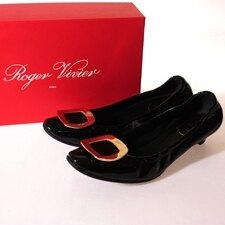 ROGER VIVIER 低跟包鞋(已加鞋底)
