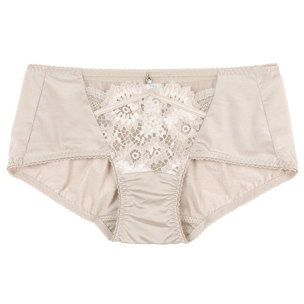 【Favori】冰絲 花語冰沁平口褲 (裸) 0