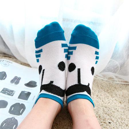 韓版藍色鬍子表情造型襪 可愛 創意 搞笑 趣味 搞怪 流行襪 短襪 襪子 淺口船襪【N200378】