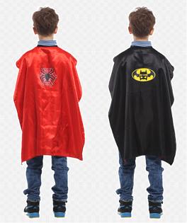 X射線【W271836】無敵英雄雙面披風(蝙蝠.蜘蛛),萬聖節服裝/化妝舞會/派對道具/兒童變裝/表演/蜘蛛人/蝙蝠俠/cosplay