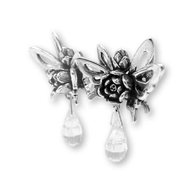 【海外訂購】【KONRON】蝴蝶夫人寶石純銀耳環(KRE0579-Cz  02765600Q8) 0