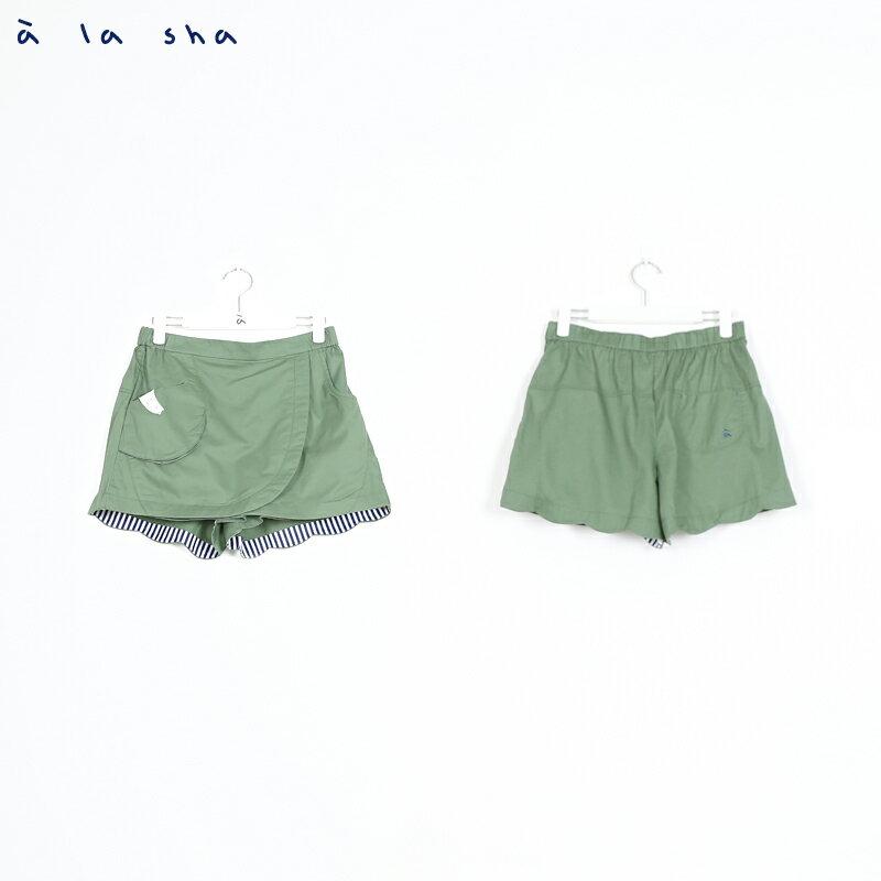 a la sha Qummi 造型花瓣裙褲 1