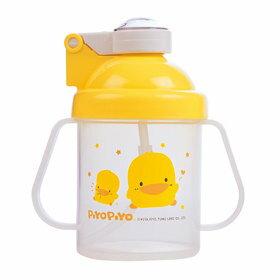 『121婦嬰用品館』黃色小鴨 彈跳吸管PP練習杯 250ml - 限時優惠好康折扣