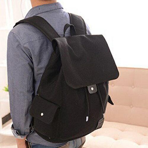 後背包-韓版曠野氣息束口袋電腦包型男帆布後背包 包飾衣院  J1032 現貨+預購
