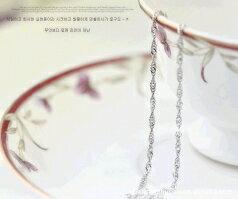 [銀色之鍊]925純銀18寸水波鍊