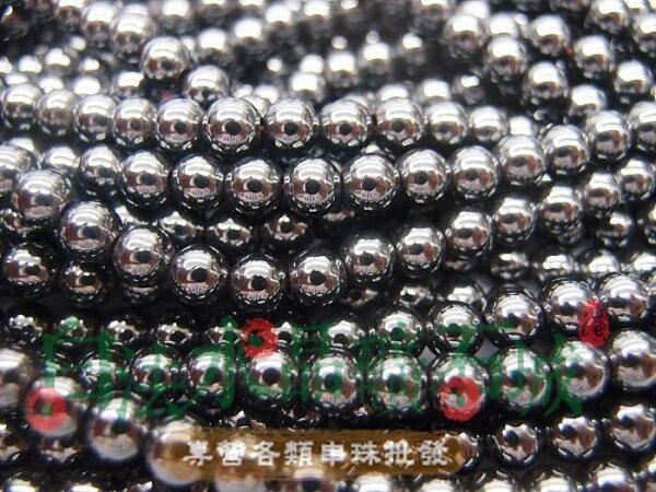 白法水晶礦石城 巴西 天然-黑膽石 6mm 串珠/條珠   首飾材料