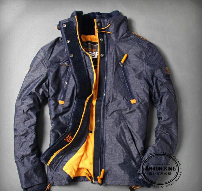 [男款] 英國名品 代購 極度乾燥 Superdry Polar Wind Attacke 男士防水防風戶外休閒外套夾克 深藍/黃 0