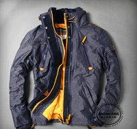 Superdry極度乾燥商品推薦[男款] 英國名品 代購 極度乾燥 Superdry Polar Wind Attacke 男士防水防風戶外休閒外套夾克 深藍/黃