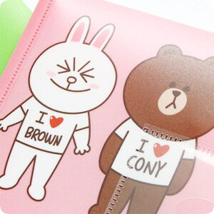 『樂魔派』正版授權 LINE 卡通票夾文件袋 可裝文件貼紙信紙卡片相片 熊大兔兔饅頭人