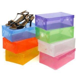 時尚生活 透明水晶鞋盒(不挑色) ☆真愛香水★