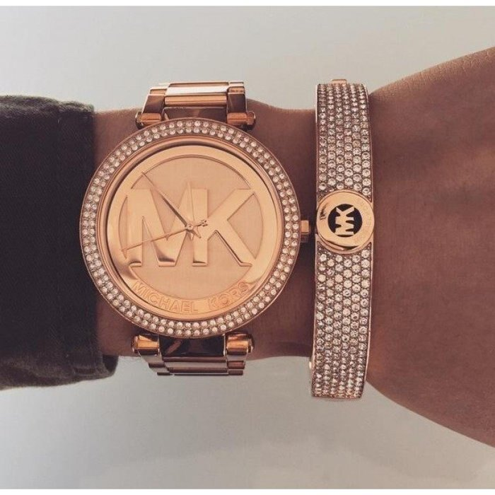 【MICHAEL KORS】正品 MK LOGO 玫瑰金 鑲鑽 計時 手錶 腕錶 MK5865 2