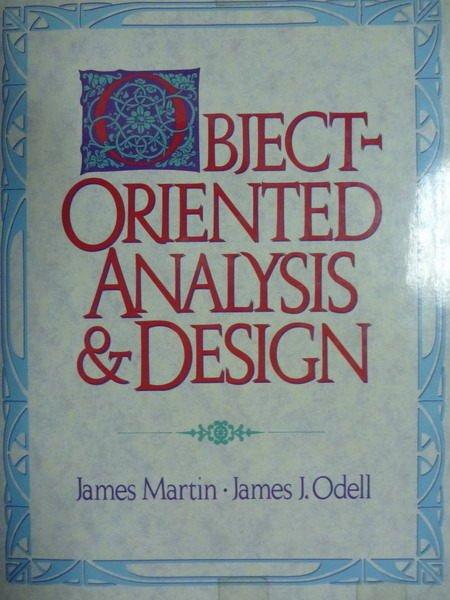 ~書寶 書T7/大學商學_PFJ~Object~Oriented Analysis   D