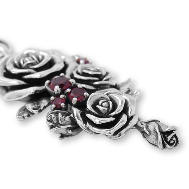 【海外訂購】【KONRON】我愛玫瑰純銀項鍊 45cm(KRP0715-Cz  03643900G2) 2