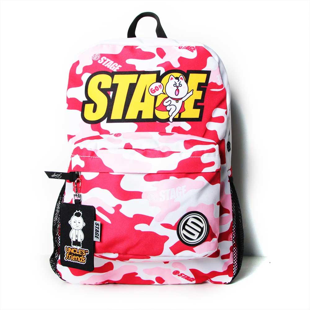 STAGE BAG × UNCLES FRIENDS GEMINI BACKPACK 白紅色 雙子座 2