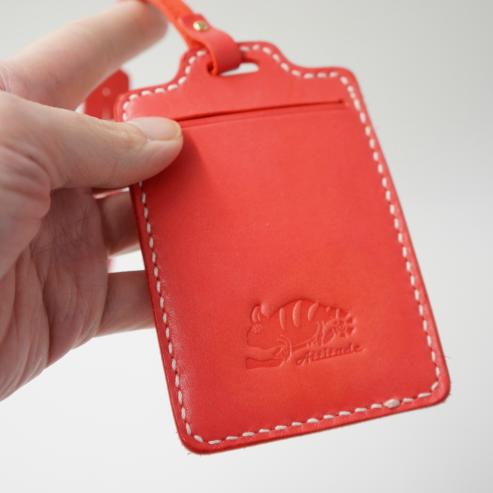 皮革感應卡夾 紅色 0