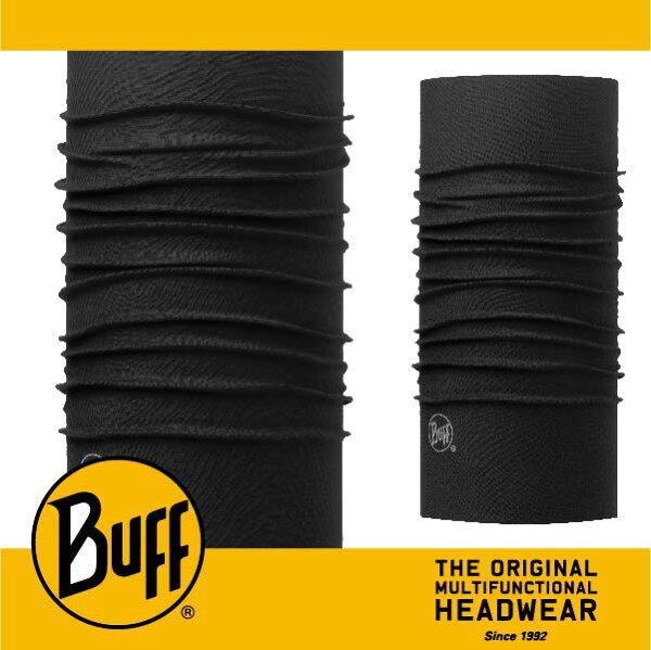 BUFF 西班牙魔術頭巾 SLIM頭巾 [經典黑膠] BF113073-999-10