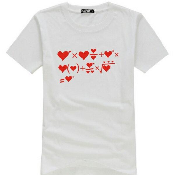 ◆快速出貨◆獨家配對情侶裝.客製化.T恤.最佳情侶裝.獨家款.純棉短T.MIT台灣製.班服.愛情等式【Y0481】可單買.艾咪E舖 1