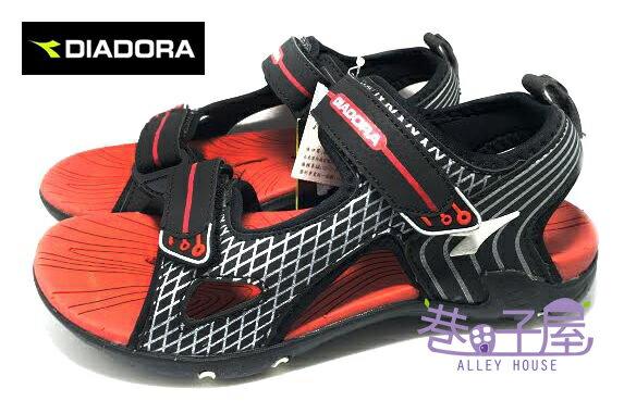 【巷子屋】義大利國寶鞋-DIADORA迪亞多納 大童三大機能耐磨排水運動涼鞋 [9962] 黑紅 超值價$398