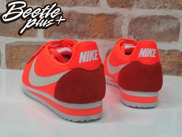 女生 BEETLE NIKE CLASSIC CORTEZ NYLON 橘 阿甘鞋 慢跑鞋 749864-810 24 2