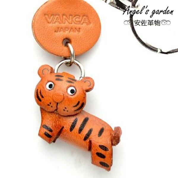 【安佐革物】老虎-S 日本真牛皮 手工小吊飾禮物 鑰匙圈 【Angel's garden 】 56221 Tiger