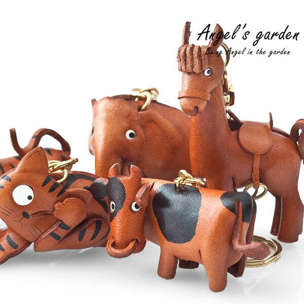 【安佐革物】大動物樂園 日本手做真皮吊飾 立體動物 鑰匙圈  龍 企鵝 大象 貓頭鷹