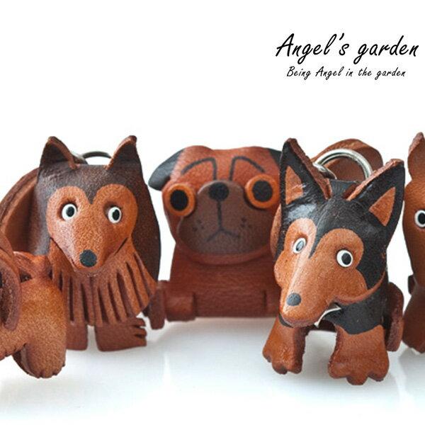 【安佐革物】狗狗家族 日本手做真皮吊飾 立體狗狗 鑰匙圈  臘腸  貴賓 西施 鬥牛