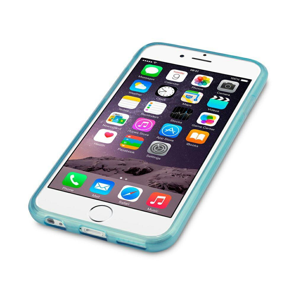 FUNDA CELESTE DE GEL TPU SILICONA FLEXIBLE PARA IPHONE 6 PLUS 1