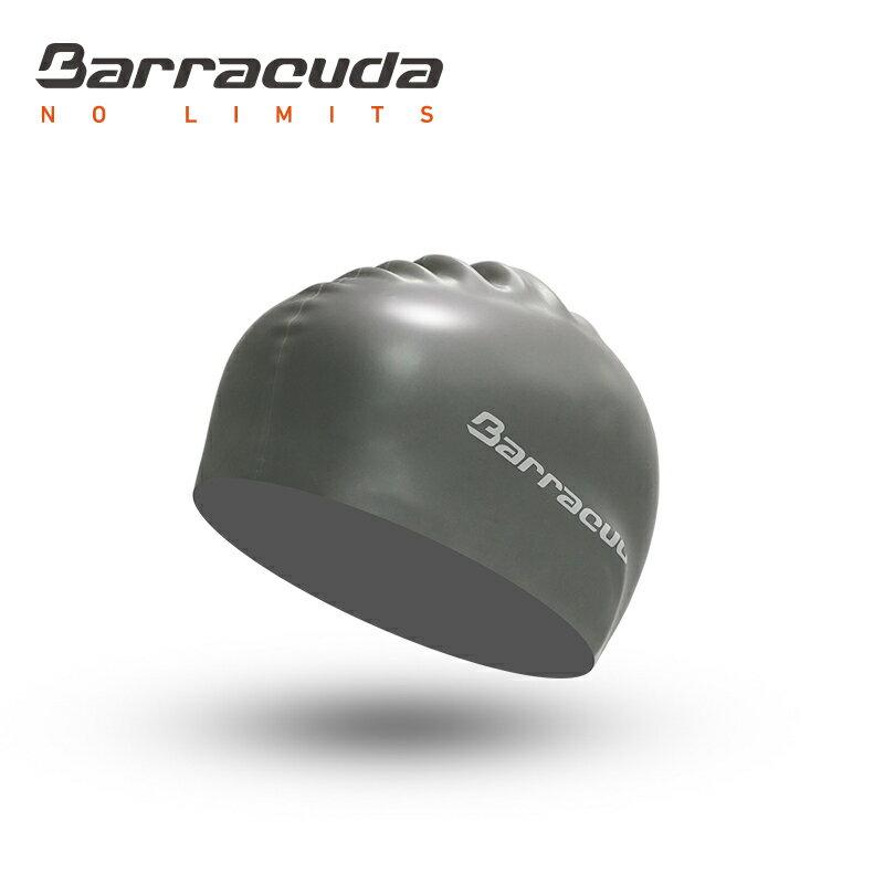 美國巴洛酷達Barracuda成人矽膠泳帽-銀 0