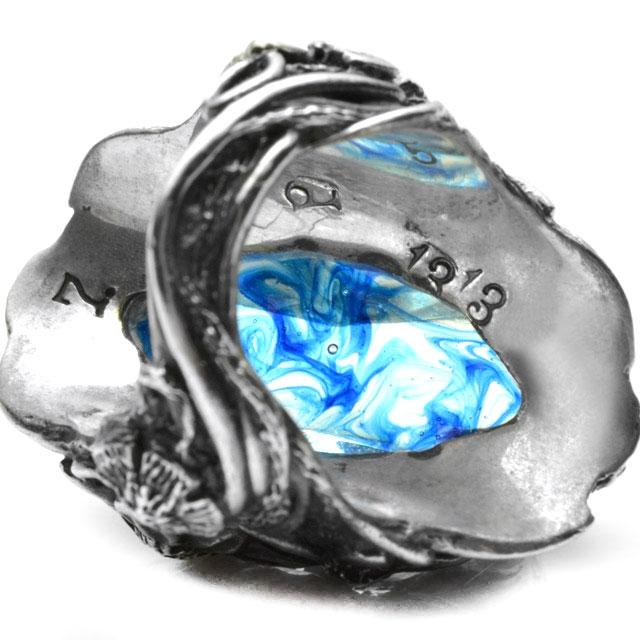 【海外訂購】【LYLY ERLANDSSON】the WINTER 極寒冰雪純銀戒指 - 冰晶藍(L-02-001) 4