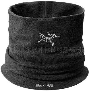 Arcteryx 始祖鳥 頸圍/滑雪/登山/旅遊/背包客/保暖/面罩/圍巾 Rho LTW 美麗諾羊毛頸圍/領圍 13454 黑 Arc'teryx