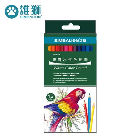 雄獅 WTP~12A 水性色鉛筆12色組 ^(紙盒^)
