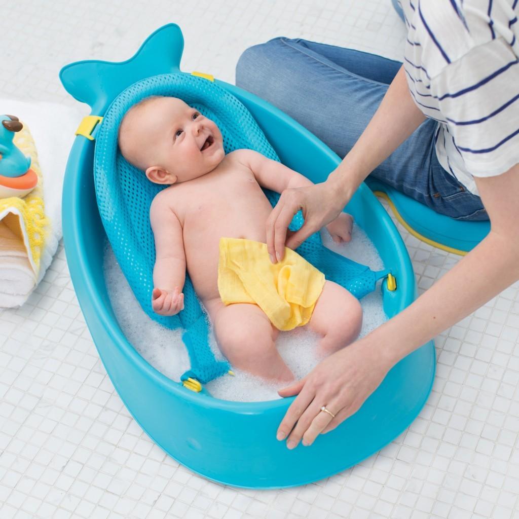 美國【Skip Hop】Moby 鯨魚三階段成長浴盆 1