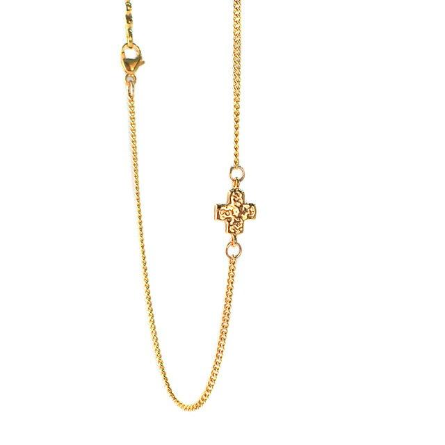 【現貨商品】【CHAN LUU】十字架鍍金純銀腳鍊(CL-AKG-1017YG  0663050000) 0