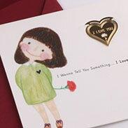 愛心 書籤 18K金 簍空 金屬 雕花 水果 黃金 夾子 籤  葉子 禮品 書 卡片 生日卡 賀卡