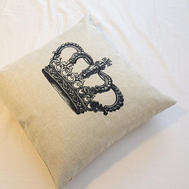 女王的皇冠  棉麻材質   45cmX45cm 花色獨特 觸感扎實 0