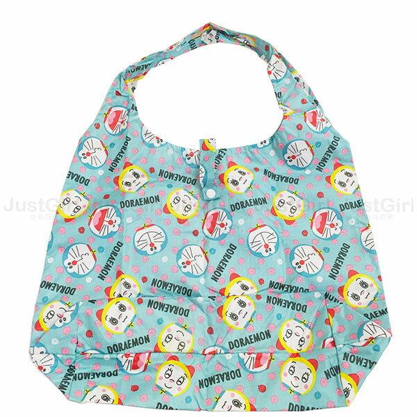 多啦A夢 小叮噹 環保購物袋 手提袋 袋子 收納袋 防潑水 配件 正版日本進口 限定販售 * JustGirl *