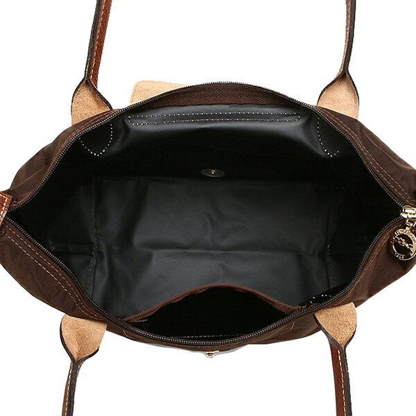 [2605-S號]國外Outlet代購正品 法國巴黎 Longchamp  長柄 購物袋防水尼龍手提肩背水餃包 咖啡色 3